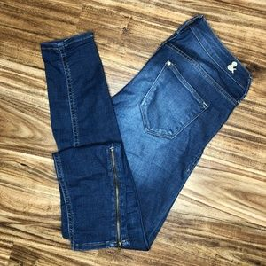 H&M Skinny Low Waist Ankle Jeans Size 27